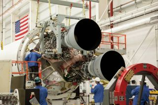 Two RD-181 Main Engines Integrated