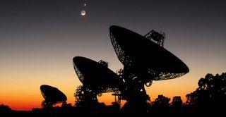 Radio Telescopes and the Moon