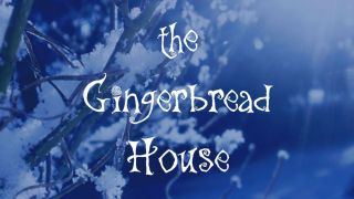 free Christmas font: The gingerbread house