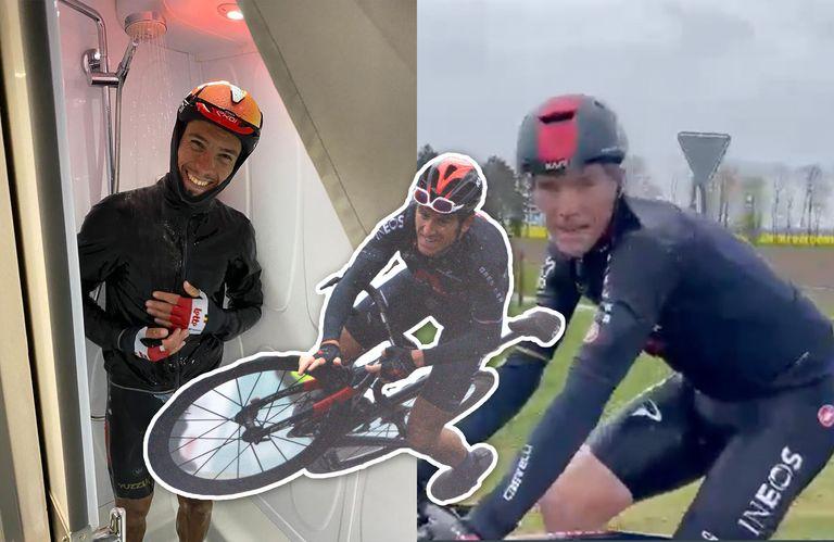 Philippe Gilbert, Rohan Dennis and Geraint Thomas