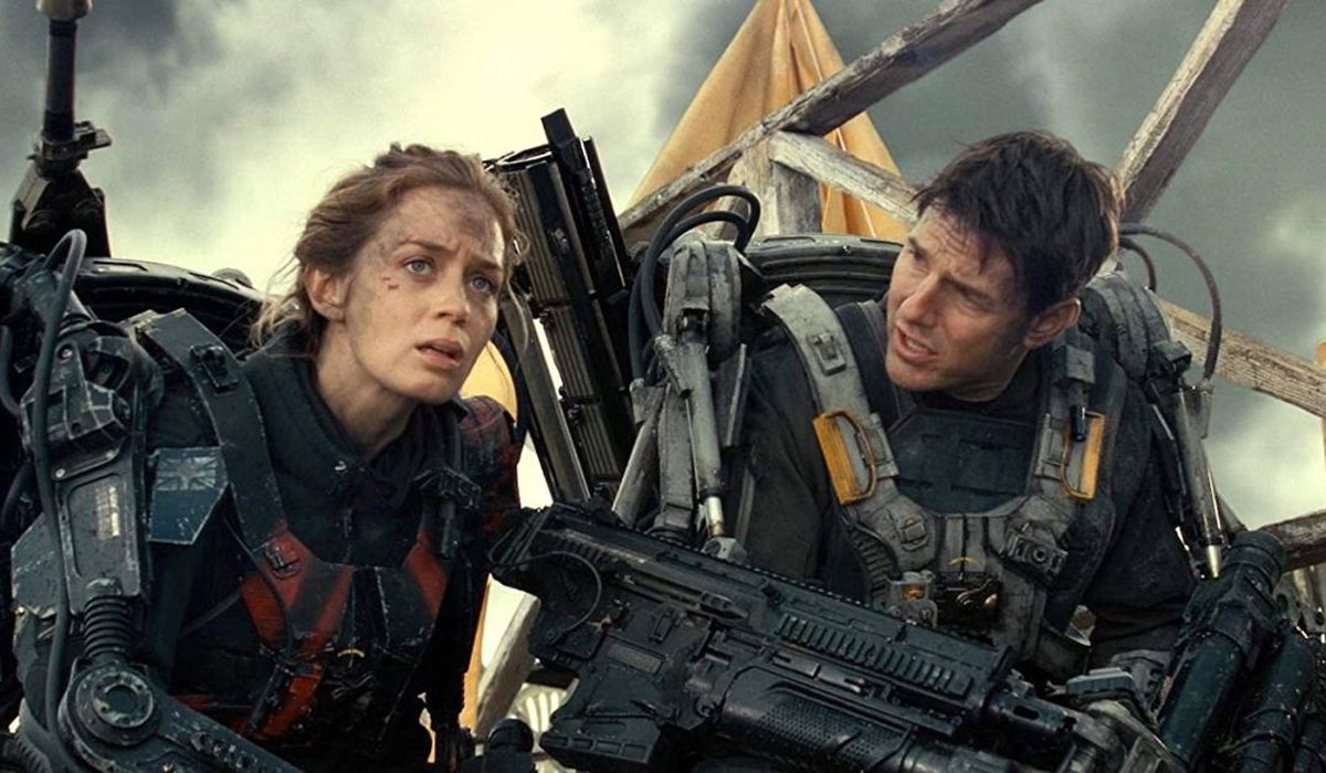 Emily Blunt and Tom Cruise in Edge of Tomorrow