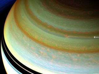 Saturn's jet stream, captured by NASA's Cassini spacecraft.