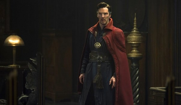 Doctor Strange surveys the room with a questioning look
