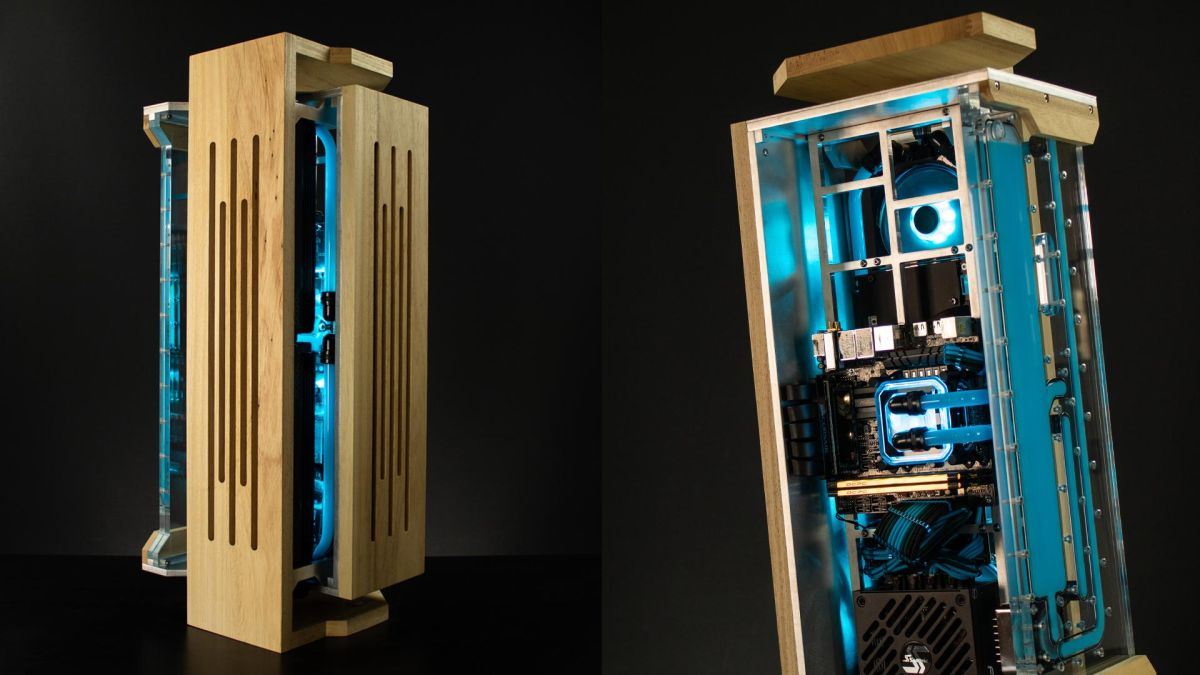 Building Project Menhir: A Vertical Case Made of Aluminum and Wood