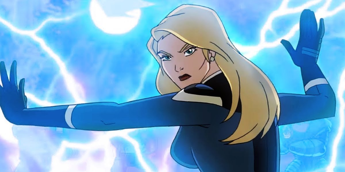 Susan Storm in the animated series, Fantastic Four