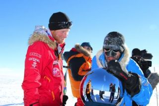 Prince Harry during Walking with the Wounded's South Pole Challenge