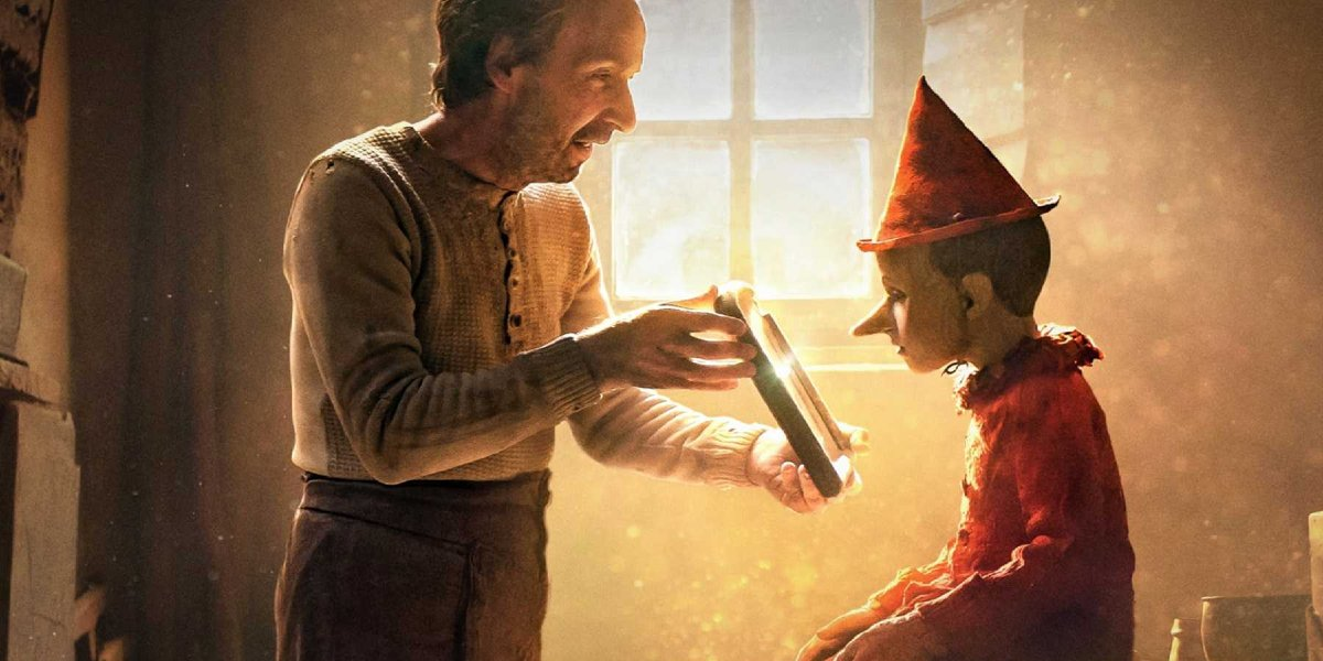 Roberto Benigni and Federico Ielapi in Pinocchio