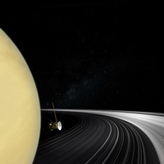 Cassini Crossing Saturn's Ring Plane
