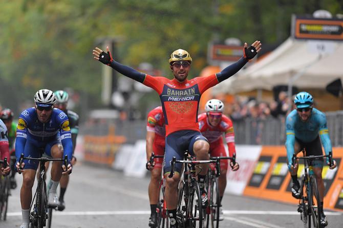 Sonny Colbrelli (Bahrain-Merida) wins Gran Piemonte 2018