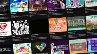 A lineup of games from the Itch Palestine Aid bundle