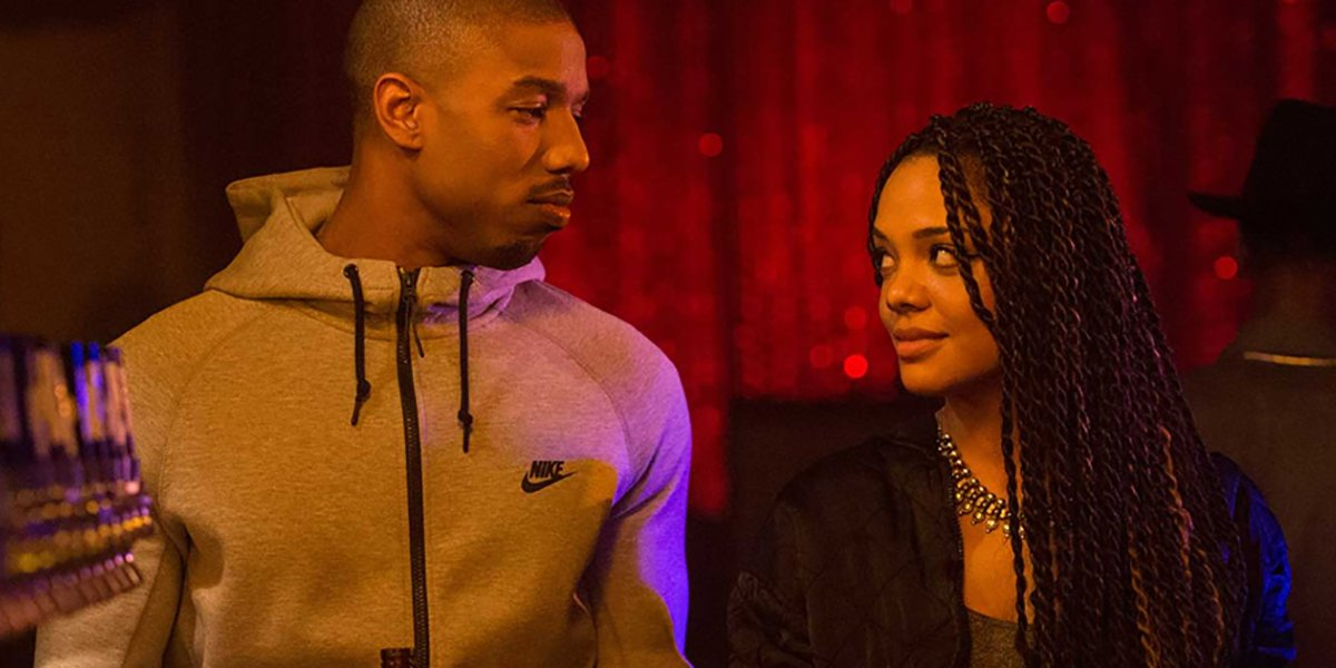 Tessa Thompson and Michael B. Jordan in Creed