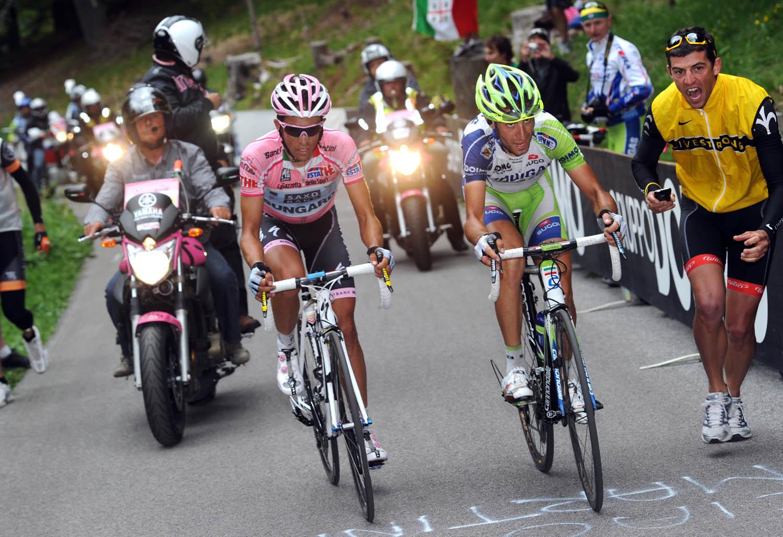 Vincenzo Nibali and Alberto Contador, Giro d