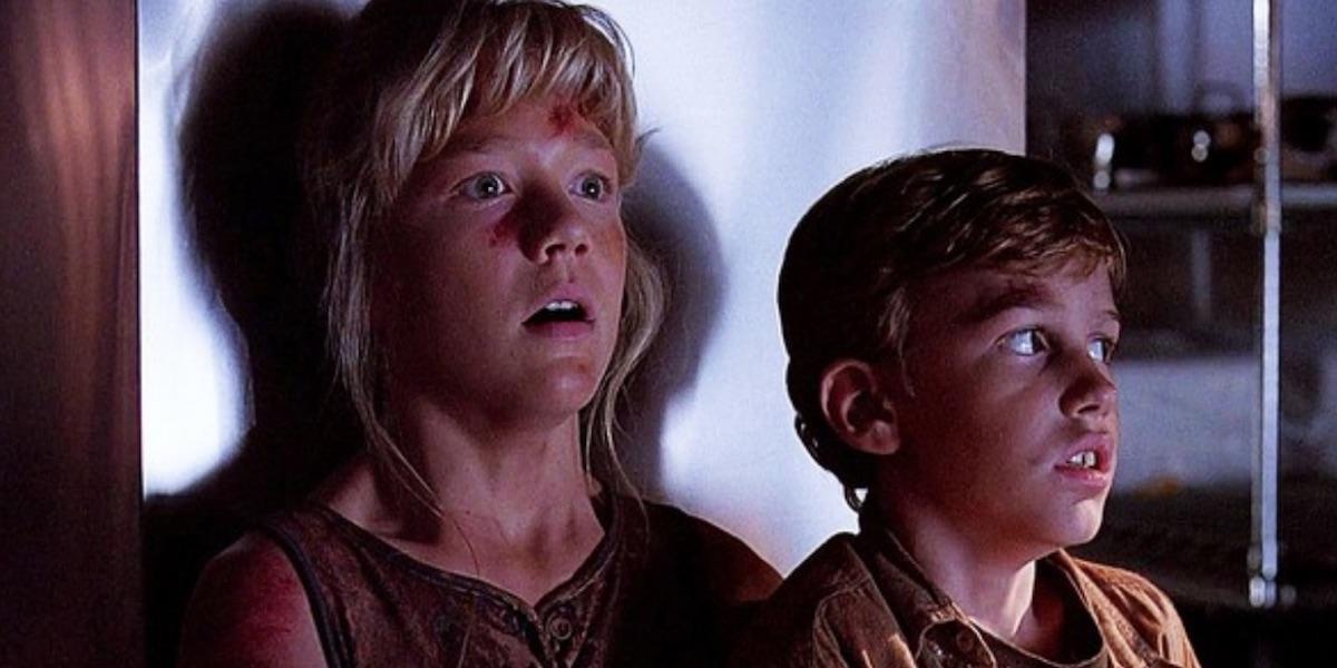 The kids in Jurassic Park