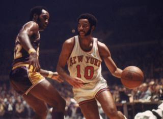 New York Knicks player Walt Frazier.