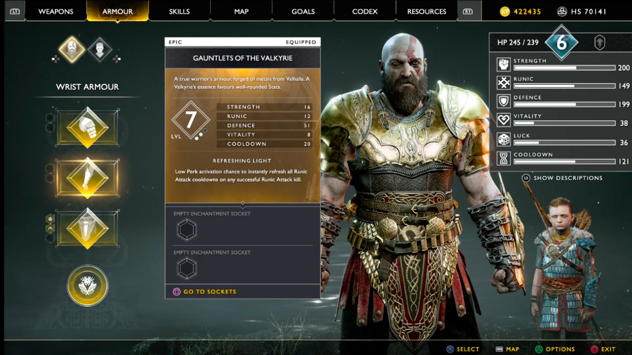 How to get the God of War Valkyrie armor, the magic boosting, best