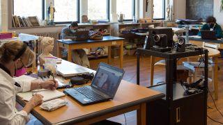 St. Patrick Academy hybrid learning setup