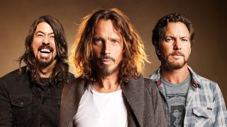 Dave Grohl, Chris Cornell and Eddie Vedder