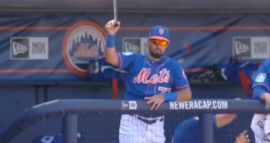 Watch A New York Mets Player Catch A Rogue Bat With His Bare Hand