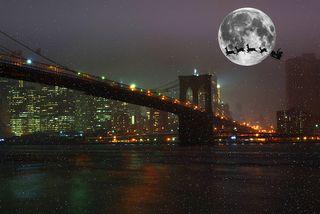Santa's seligh over Manhattan.
