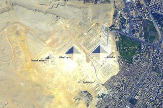 Astronaut photo of Egypt's pyramids