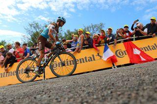 AG2R La Mondiale's Alexis Vuillermoz tackles La Planche des Belles Filles on stage 6 of the 2019 Tour de France.