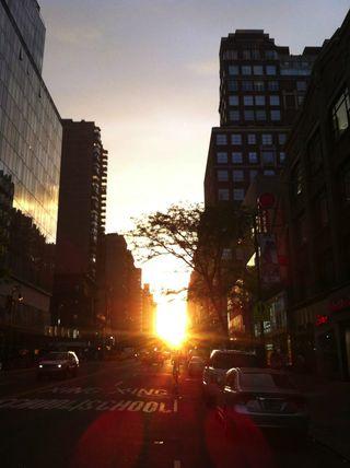 Manhattanhenge Sunset - July 2013