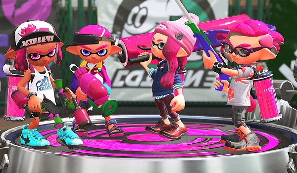 Squid kids gather in splatoon 2