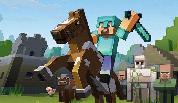 Minecraft riding into battle