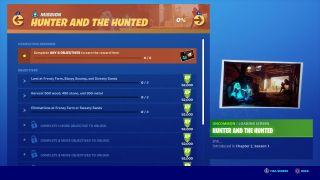 Fortnite Hunter and the Hunted challenges