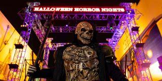 halloween horror nights sign and monster at universal studios orlando
