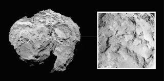 Rosetta Mission's Comet Landing Site