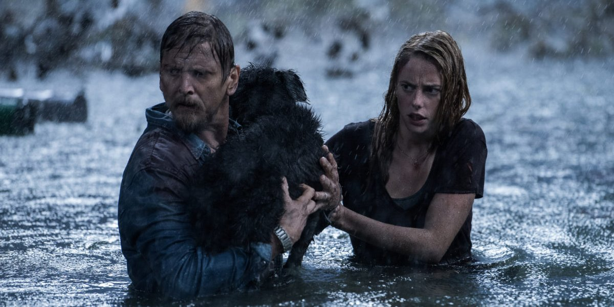 Barry Pepper and Kaya Scodelario in Crawl