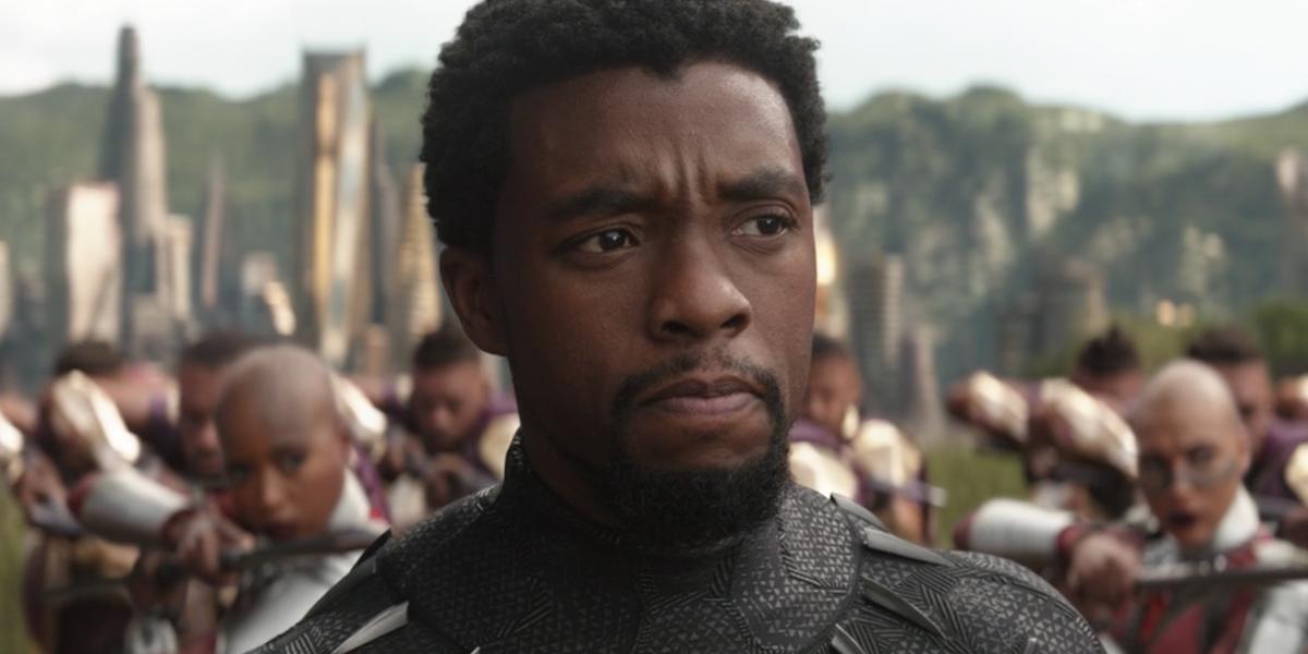 Chadwick Boseman in Avengers: Infinity War