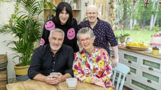 Paul Hollywood and Prue Leith (bottom, left to right) are judging Great British Baking Show 2021 with Noel Fielding and Matt Lucas as the presenters