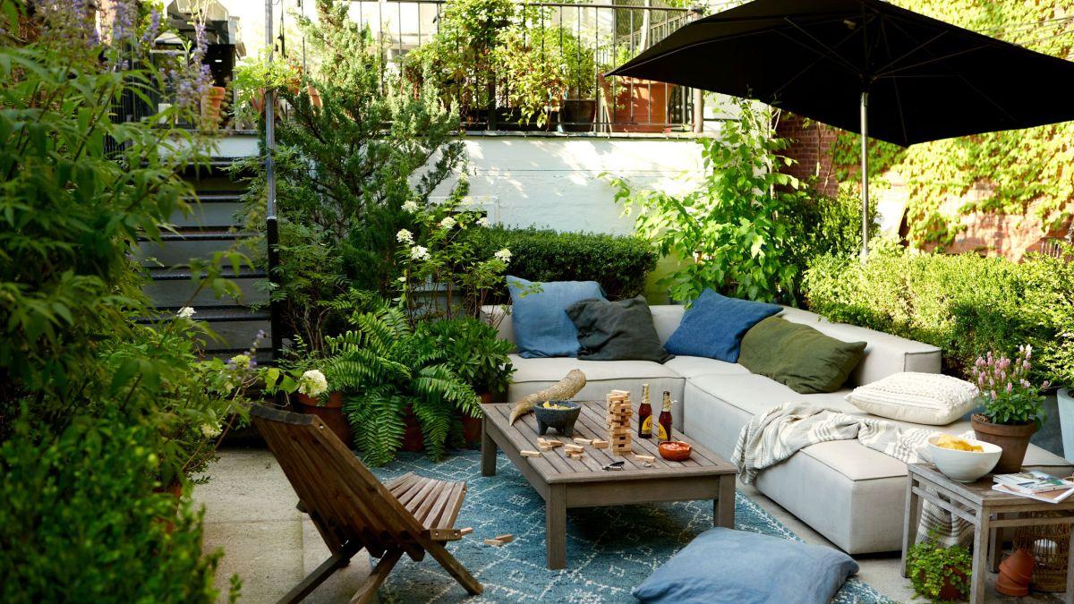 Garden designer James DeSantis reveals how to make a city garden feel bigger with plants and furniture