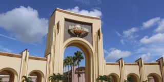 The entrance to Universal Studios.