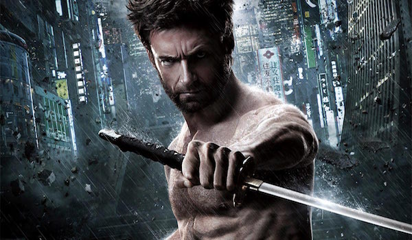 The Wolverine Logan holding sword