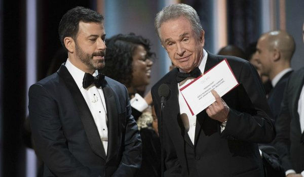 Jimmy Kimmel and Warren Beatty