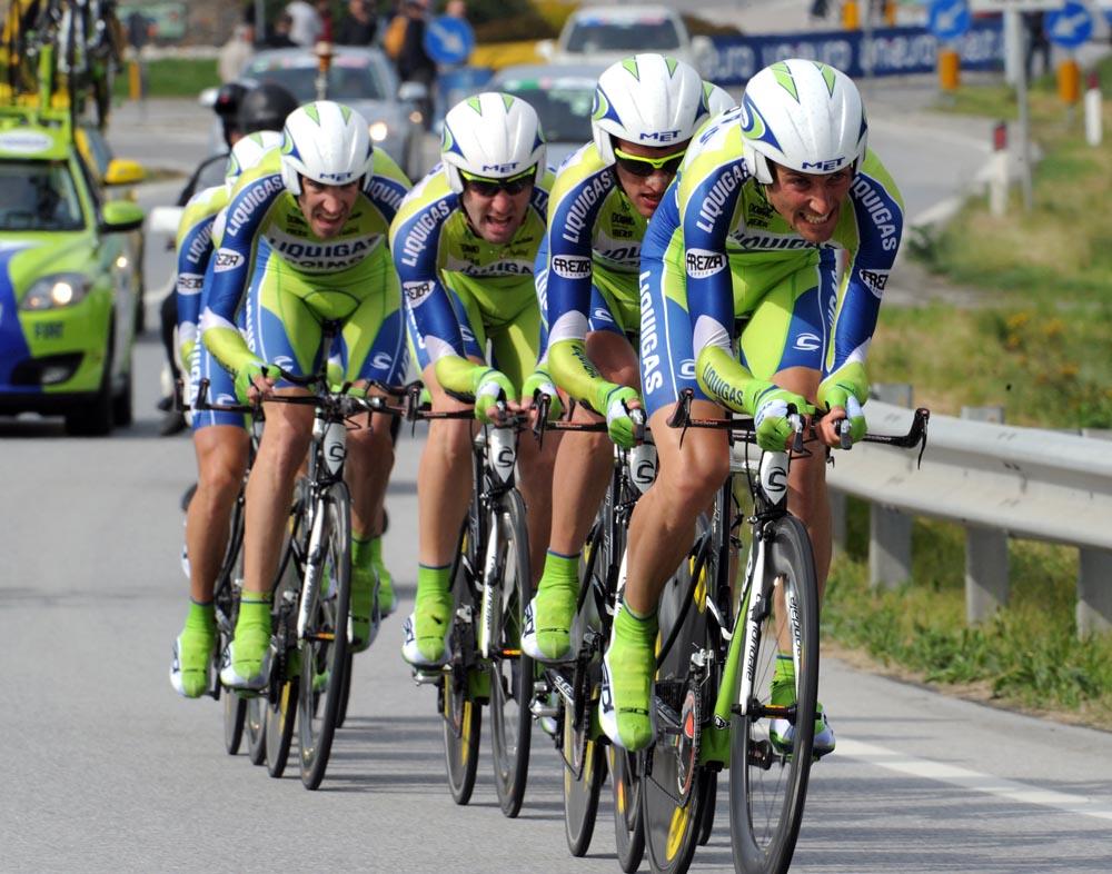 Basso and Liquigas, Giro d'Italia 2010, stage 4 TTT