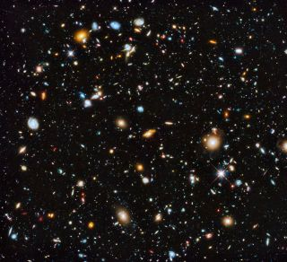 This image by the Hubble Space Telescope is the most comprehensive view yet of the universe's evolution as seen by a space telescope. The coloful image, released June 3, 2014, contains 10,000 galaxies, with the different colors denoting different waveleng