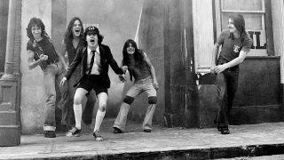 AC/DC at Shepperton Studio, London in 1976 1976
