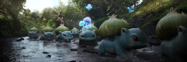 Bulbasaur and Morelull in Detective Pikachu movie