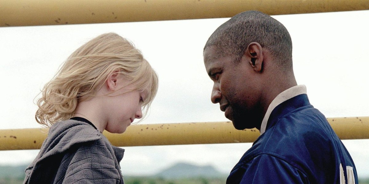 Dakota Fanning and Denzel Washington in Man on Fire
