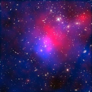 Astronomers estimate that the visible matter in Pandora's Cluster only makes up five percent of its mass. They believe the rest is made of dark matter.