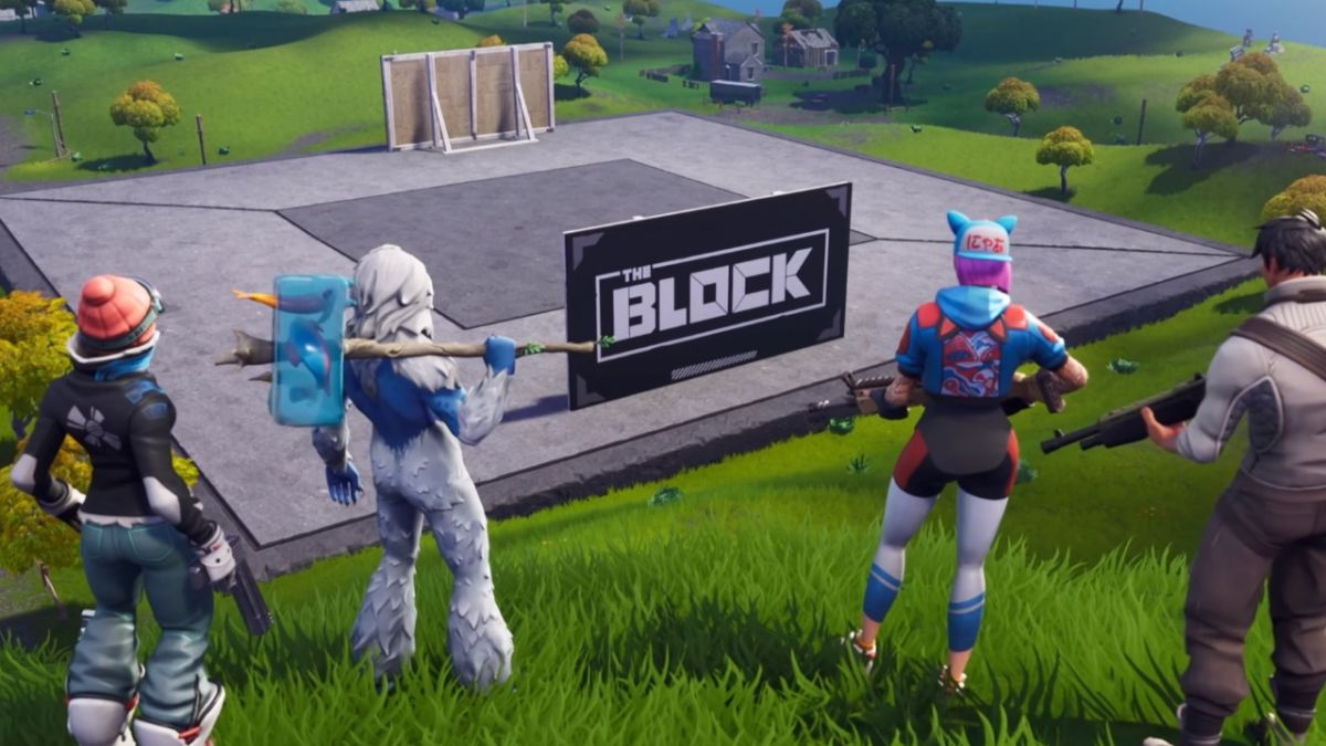 Fortnite season 7 adds The Block, a blank canvas on the map reserved for player creations