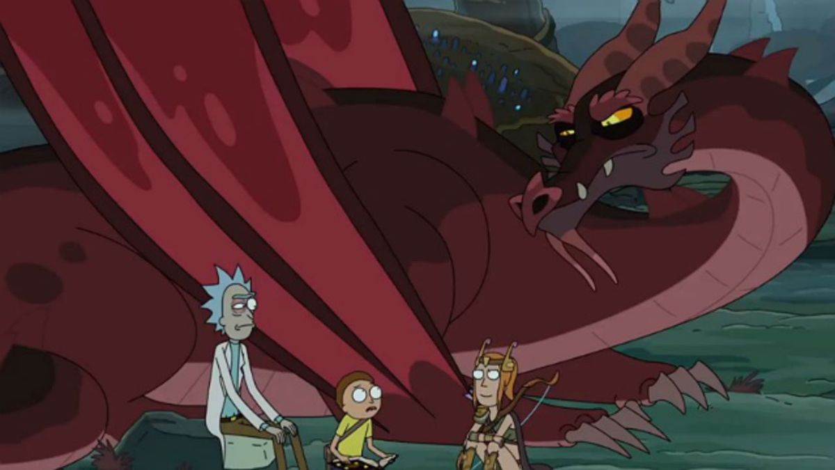 Rick and Morty season 4 post-credits scene explained; cat and dragon guest stars revealed