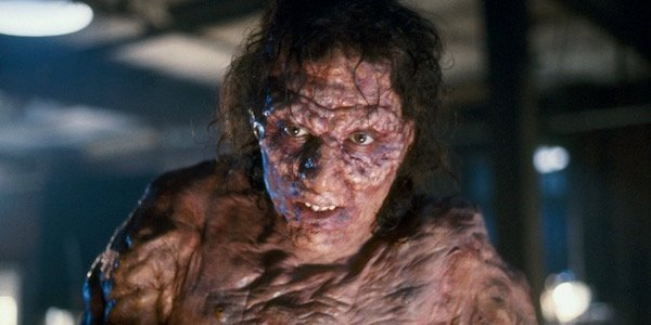 Jeff Goldblum looking like a monster in The Fly