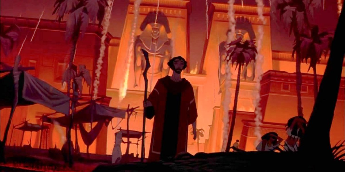 The plagues in The Prince of Egypt.