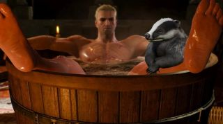 Geralt and the Baldur's Gate badger