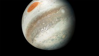 Juno View of Jupiter and Great Red Spot
